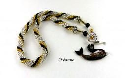 Collier de perles de verre Océanne-www.metiersdart-cadeaux.com