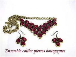 Collier de perles bourgogne