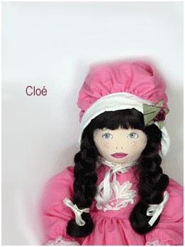 poupée chiffon Cloé rose
