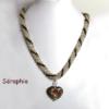 Collier de perles, bijoux, pièce unique, fermoir pour les personnes qui ont des douleus aux mains.