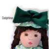 poupée de chiffon Delphine verte