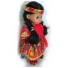 poupée-indienne-venyle-rouge-profil