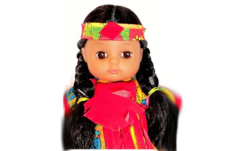poupée venyle rouge buste