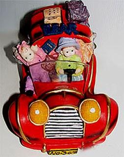 Tirelire auto rouge