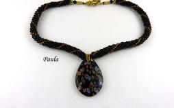 Collier de perles de verre Paula